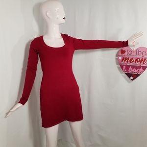 Express Red mini sweater dress(S)